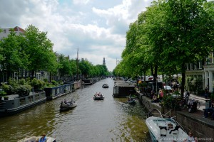 Prinsengracht mit Westerkerk in Amsterdam