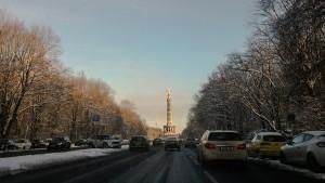 Siegessäule im Schnee