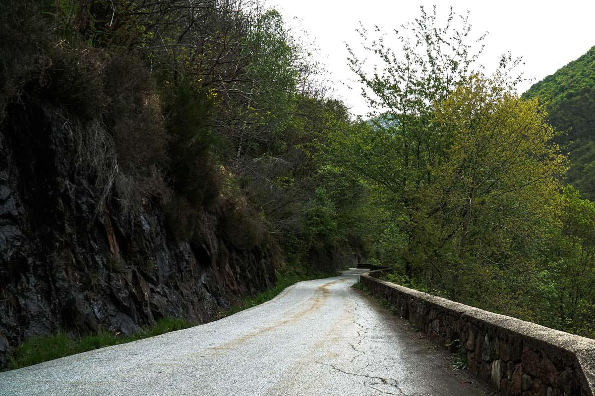 Straße nach Cicogna im Val Grande