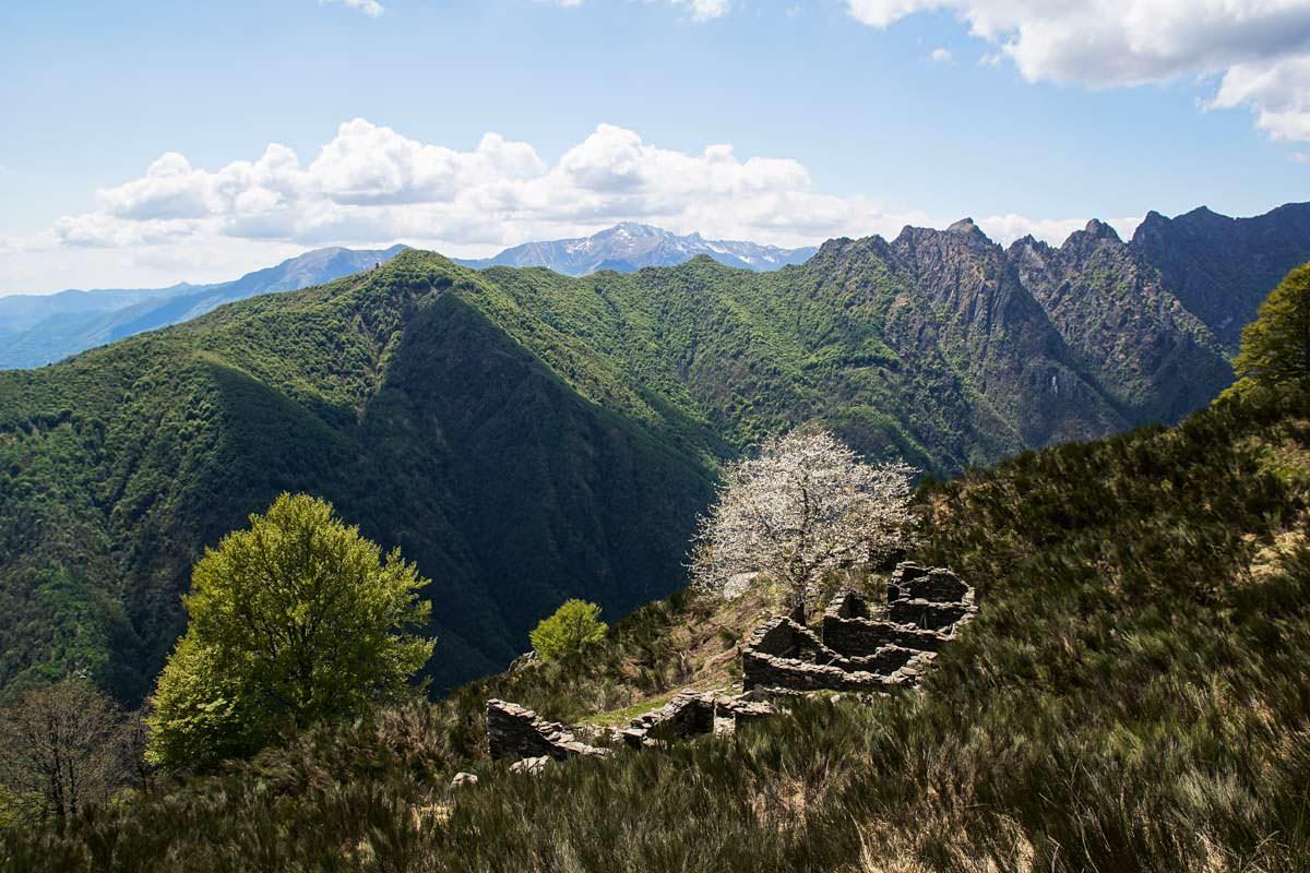 Weg zur Alpe Pra im Val Grande