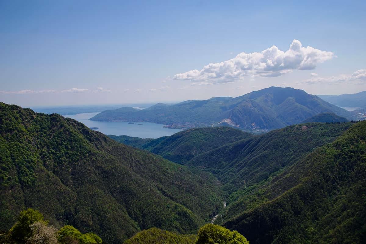 Blick auf den Lago Maggiore von der Alpe Pra