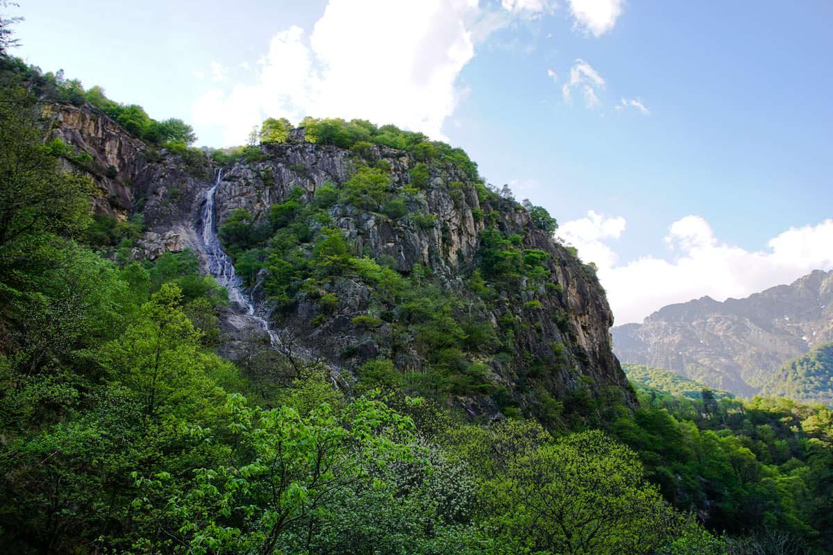 Wasserfall am Rio Pogallo im Val Grande