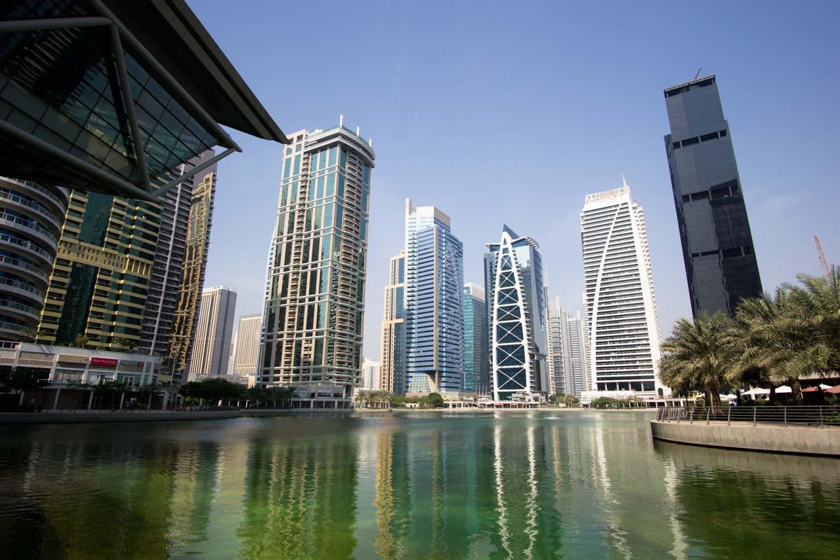 Skyline der Jumeirah Lakes Towers in Dubai