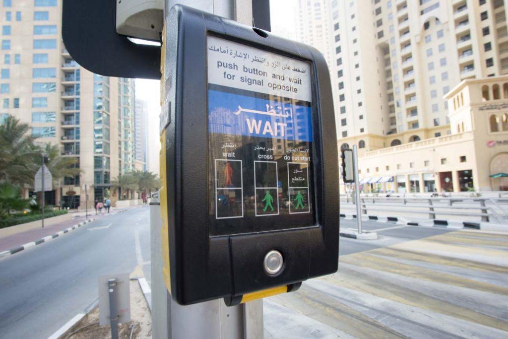 Fußgängerampel in Dubai