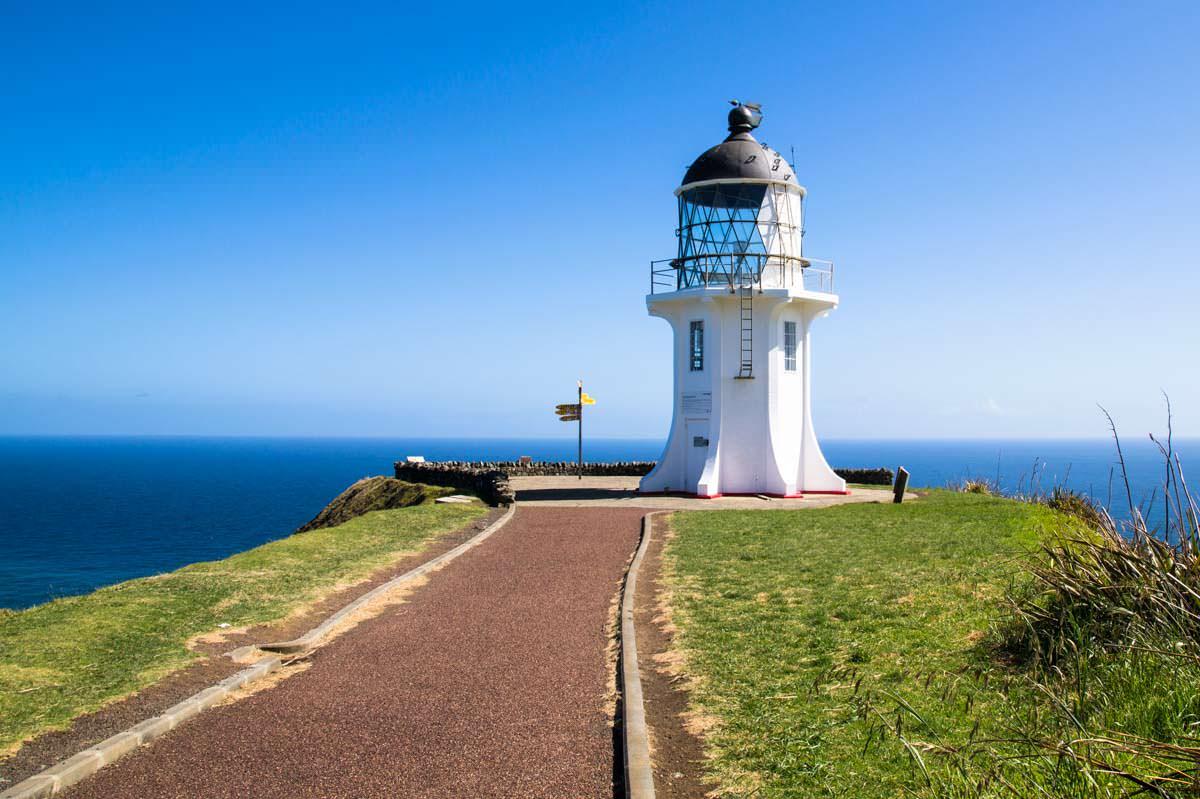 Leuchtturm am Cape Reinga in Neuseeland