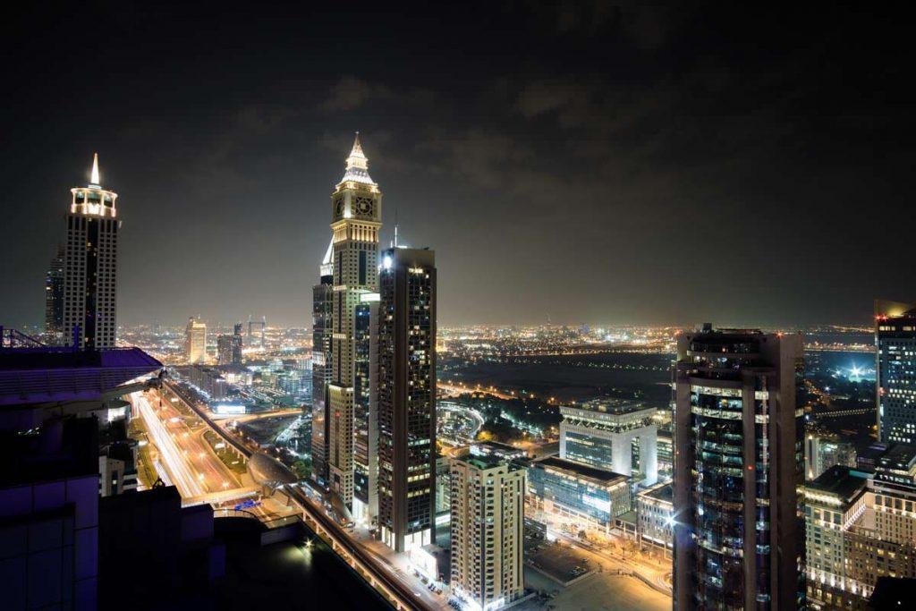 Ausblick von der Level 43 Skybar in Dubai