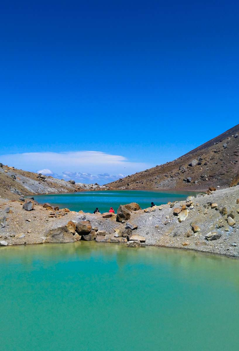 Emerald Lakes im Tongariro Nationalpark in Neuseeland