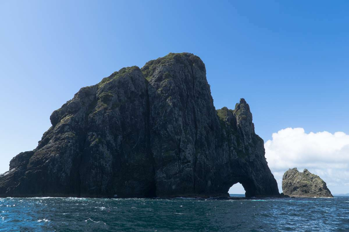 Hole in the Rock der Piercy Island in der Bay of Islands von Neuseeland