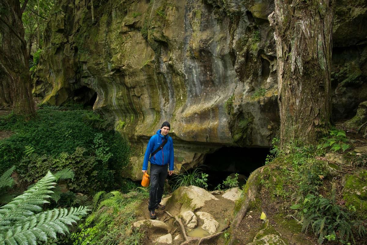 Eingang der Waipu Caves in Neuseeland