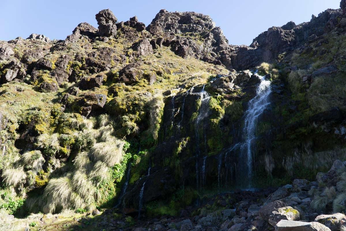 Soda Springs im Tongariro Nationalpark in Neuseeland