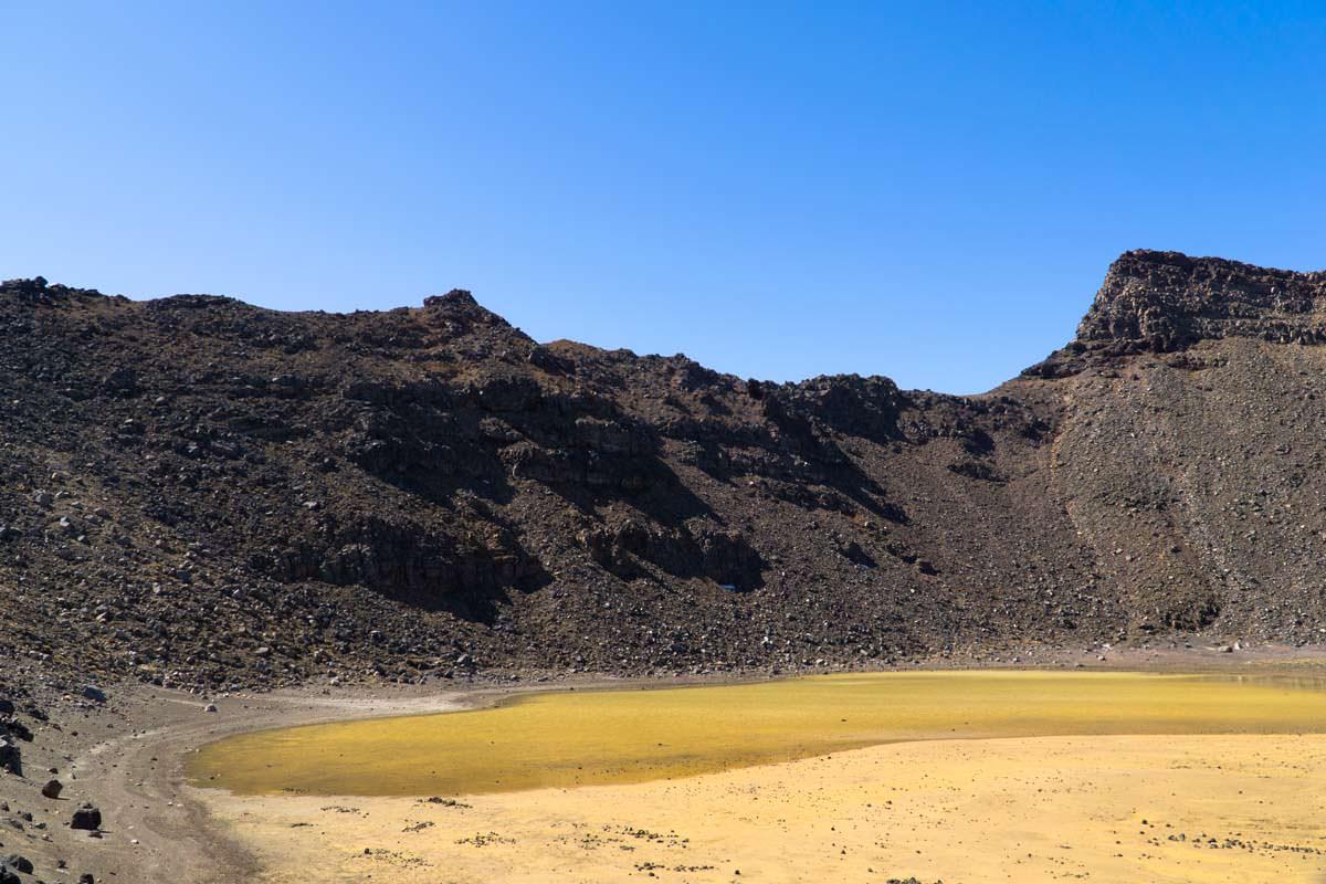 South Crater im Tongariro Nationalpark in Neuseeland