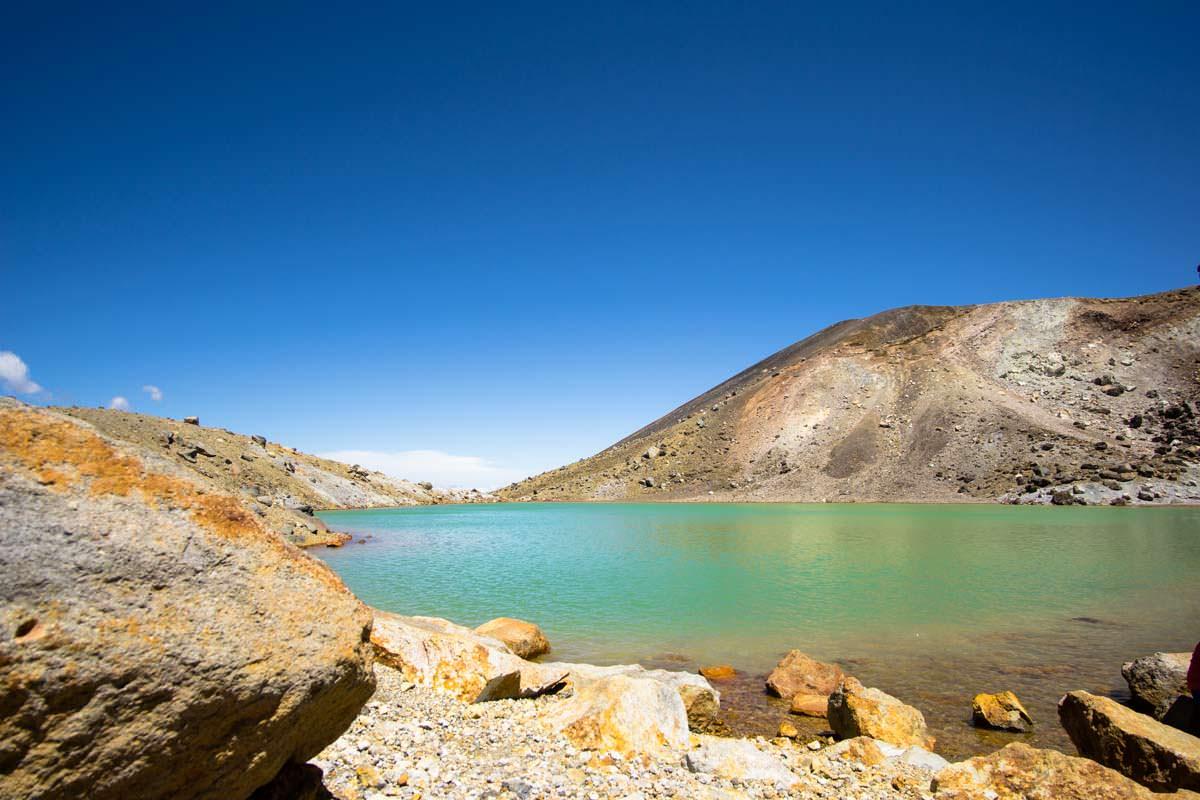 Emerald Lakes im Tongariro Nationalpark in Neuseeland