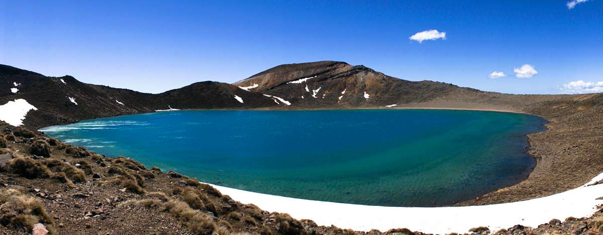 Blue Lake im Tongariro Nationalpark in Neuseeland