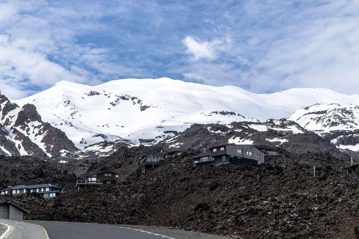 Das Skigebiet am Mount Ruapehu im Tongariro Nationalpark in Neuseeland