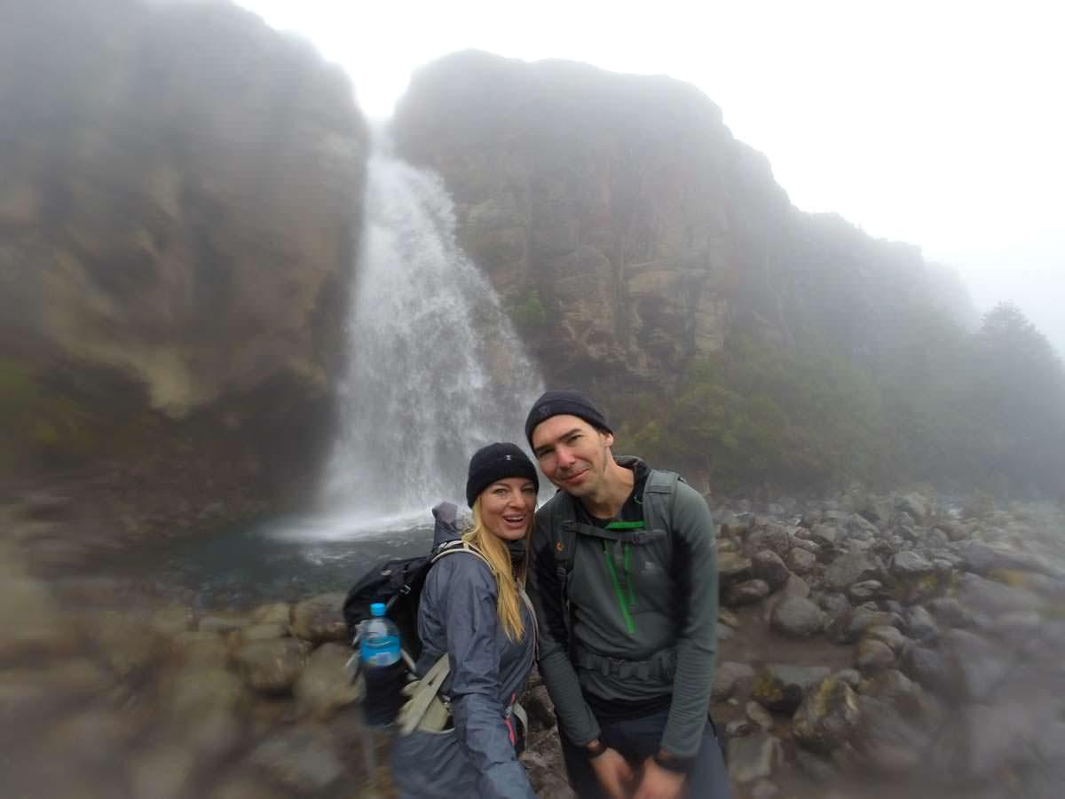 Die Taranaki Falls im Tongariro Nationalpark in Neuseeland