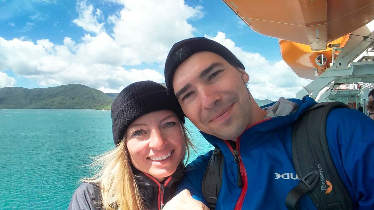 Wir auf der Cook Strait Fähre von Interislander