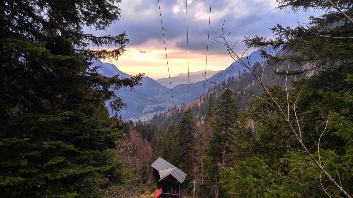 Sonnenuntergang im Hinterstein-Tal