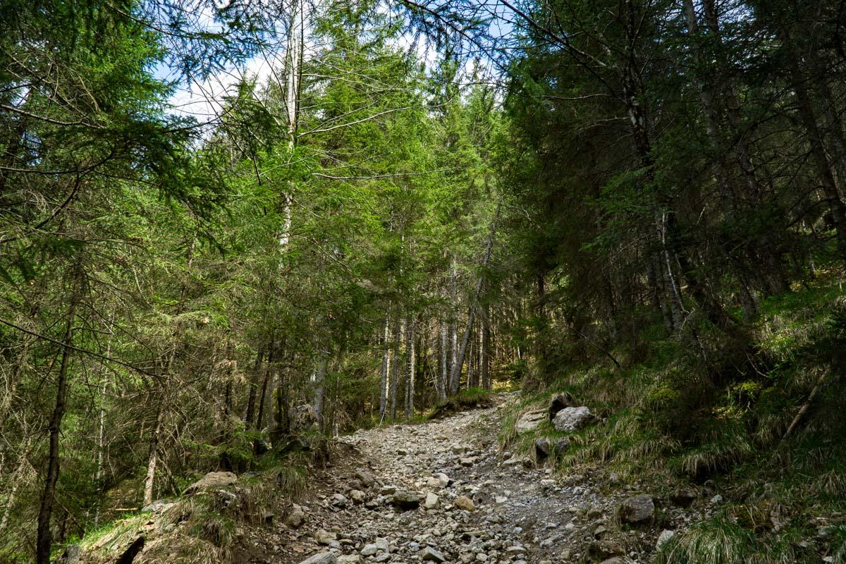 Geröllweg von Hinterstein zum Schrecksee