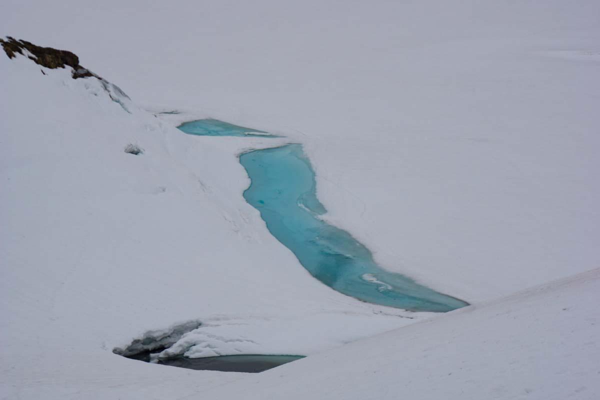 Schneebedeckter Schrecksee im Winter
