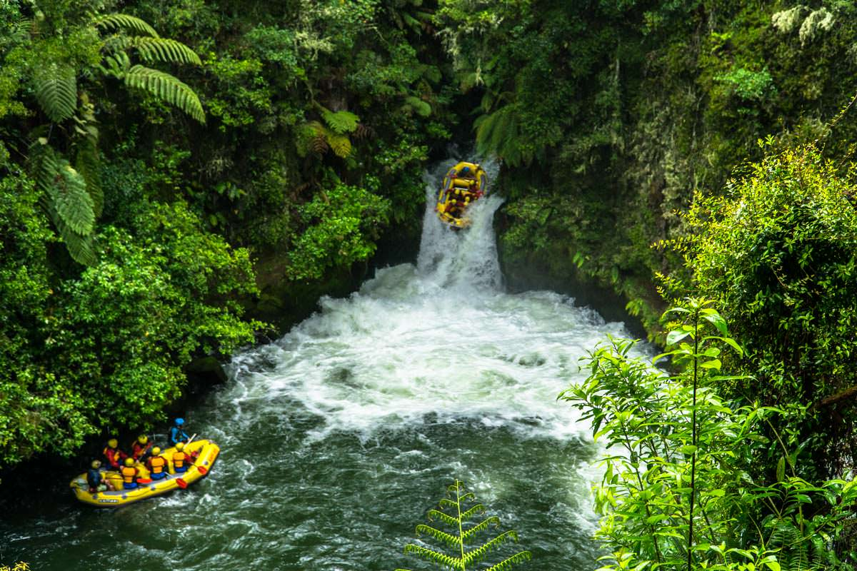 Raft in den Tutea Falls (Okere Falls Track)