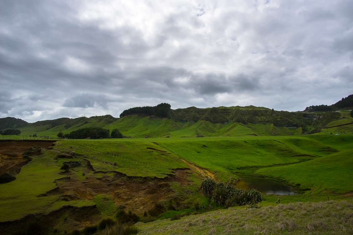 MacKenzie´s Bluff Viewpoint on Whitecliff Walkway in Tongaporutu, Neuseeland