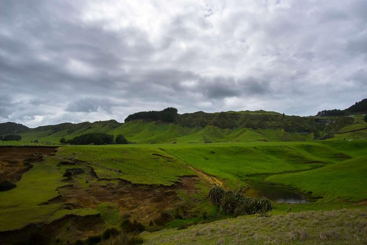 MacKenzie´s Bluff Viewpoint on Whitecliff Walkway in Tongaporutu, Neuseeland