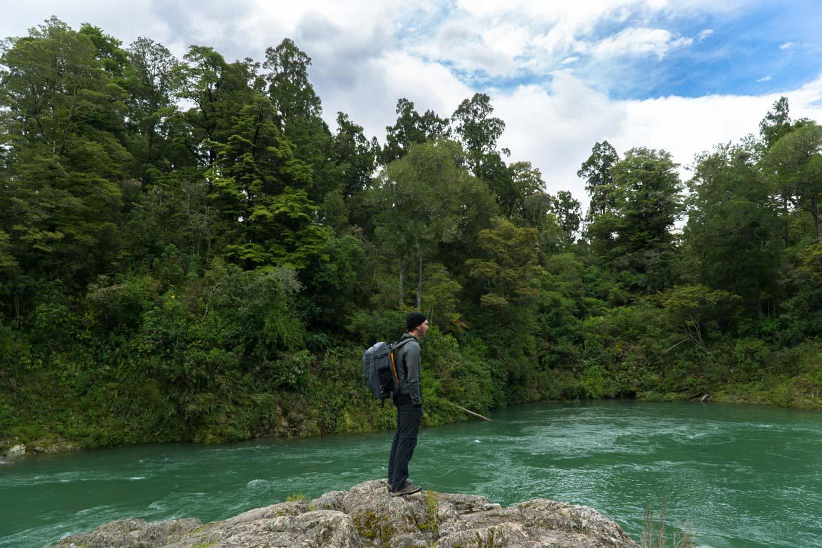 Pelorus River im Pelorus Bridge Scenic Reserve in Neuseeland