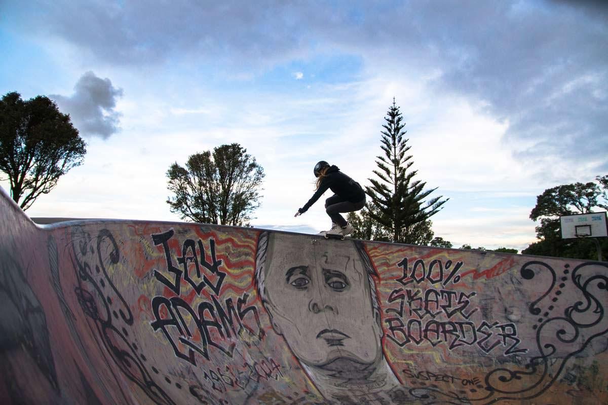 Topporn im Skatepark von New Plymouth in Neuseeland