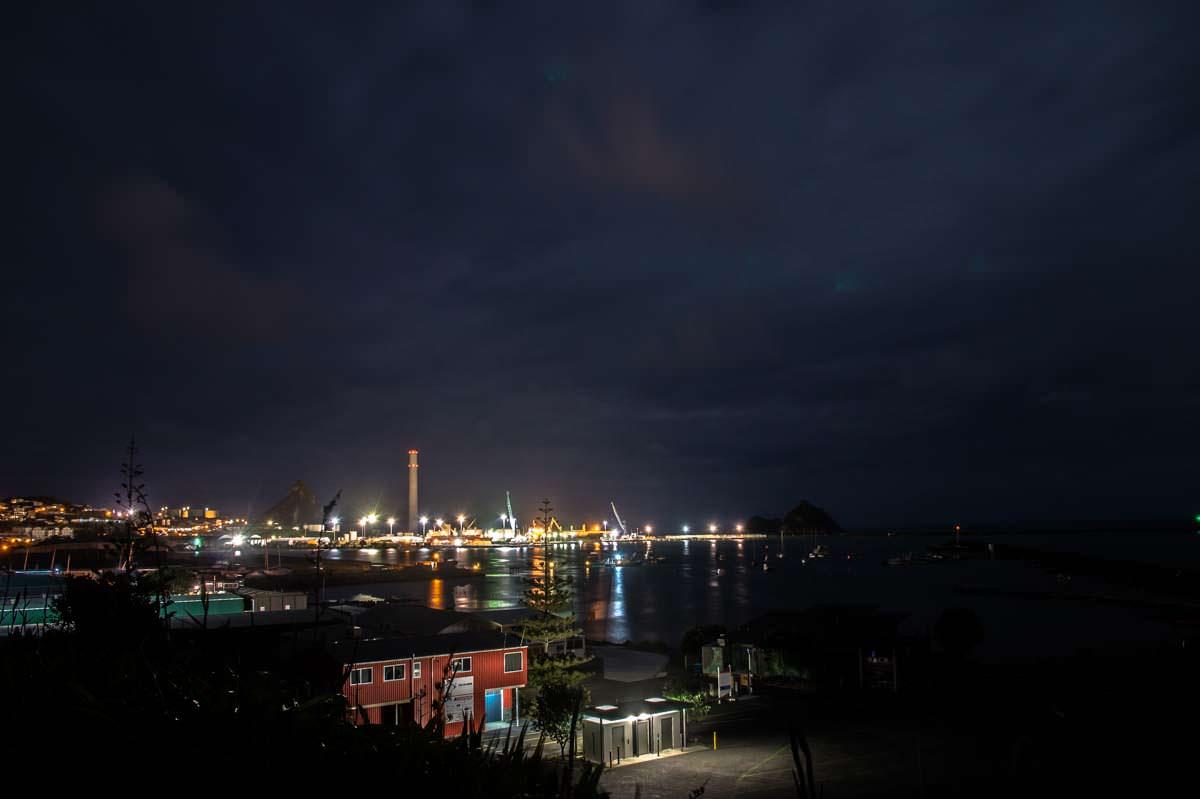 Hafen von New Plymouth in Neuseeland