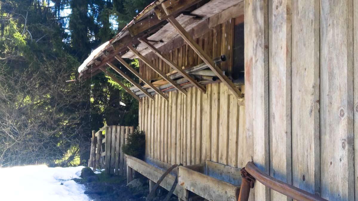 Hütte auf der Eggersalpe am Alpsee