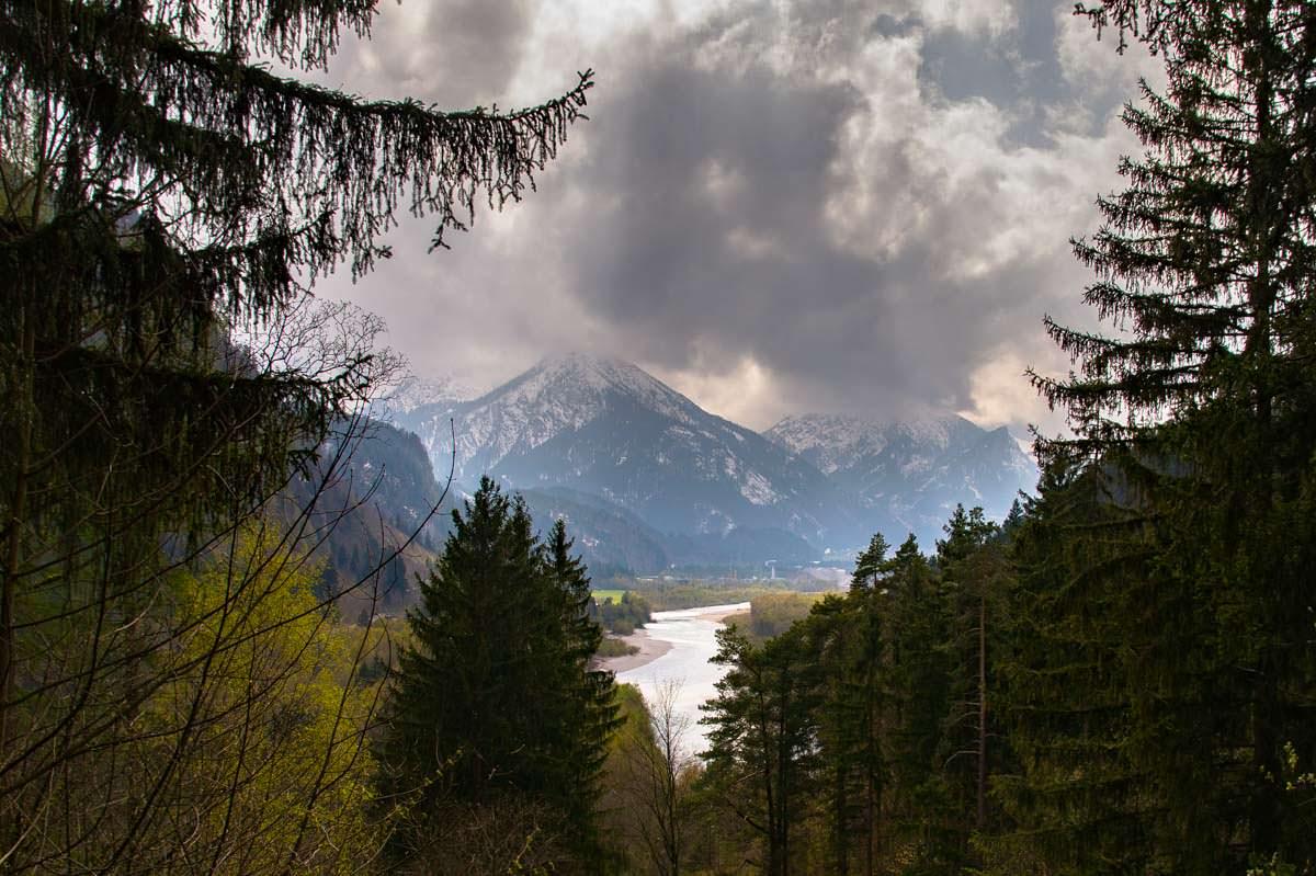 Aussicht über Lech und Ziegelwies