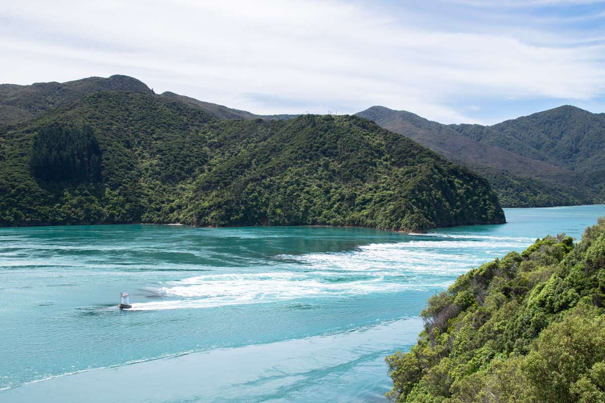 Strömungen am French Pass in Neuseeland
