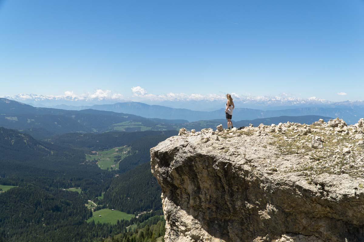 Fernsicht in den Dolomiten, Rosengarten
