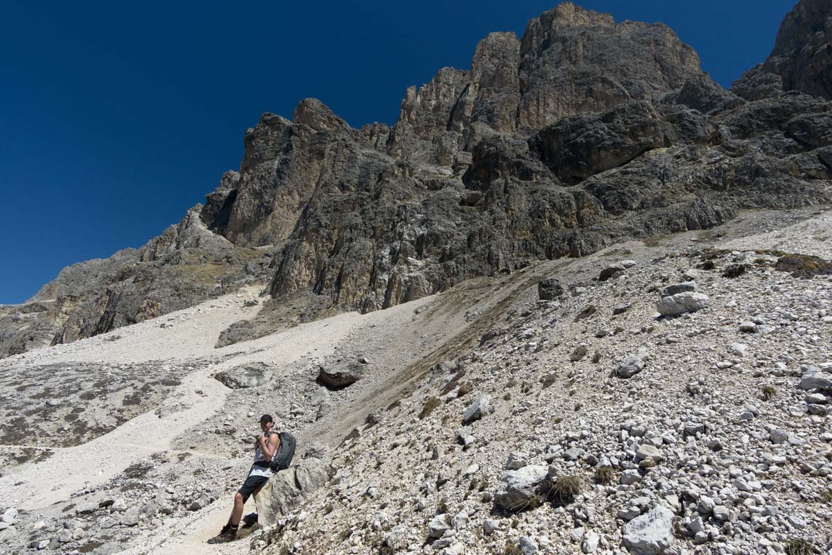 Wandern am Rosengartenmassiv in den Dolomiten