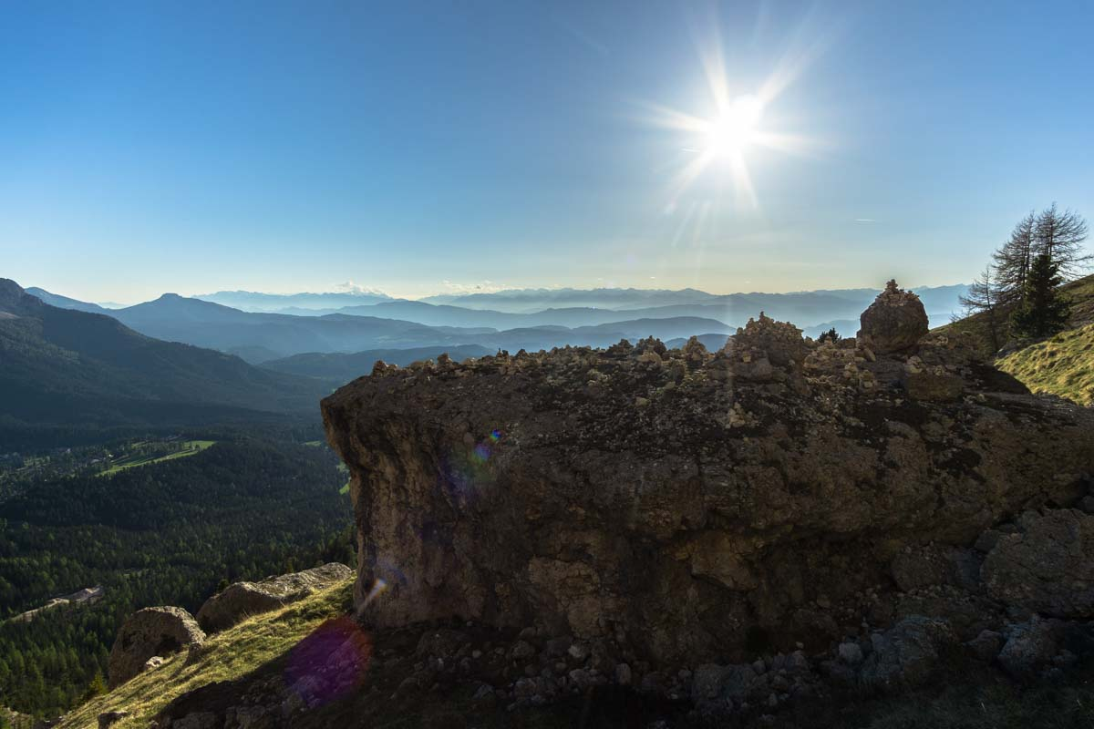 Sonnenuntergang im Rosengarten, Dolomiten