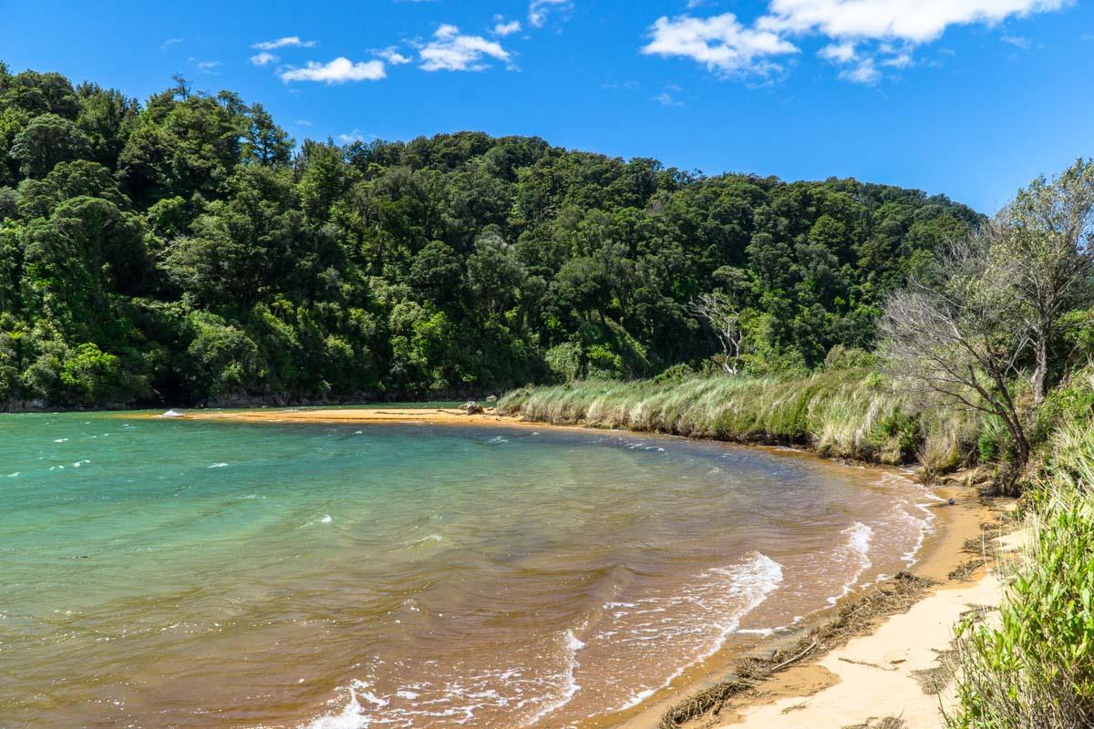 Lagune im Abel Tasman Nationalpark in Neuseeland