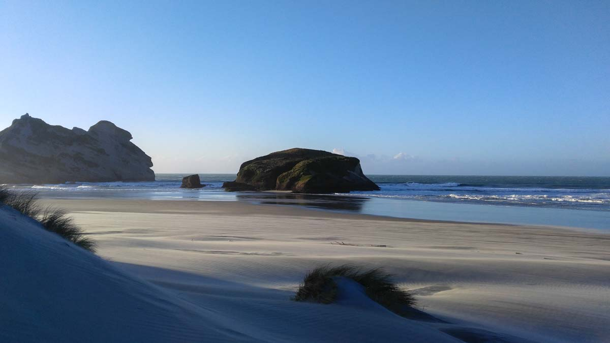 Sanddünen am Wharariki Beach