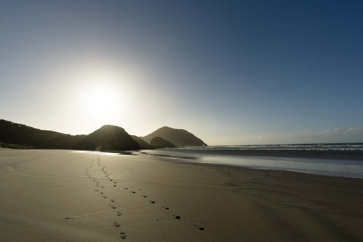 Wharariki Beach in Neuseeland