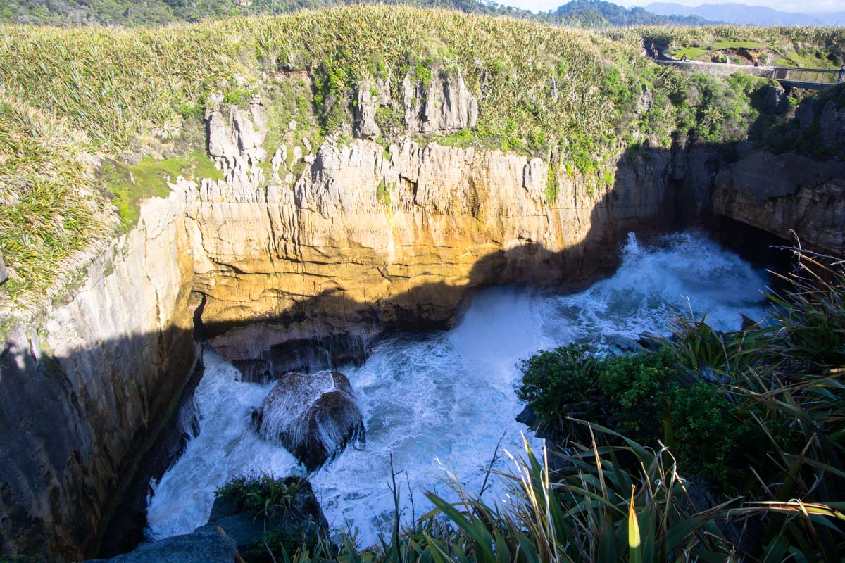 Punakaiki Pancake Rocks and Blowholes in Neuseeland