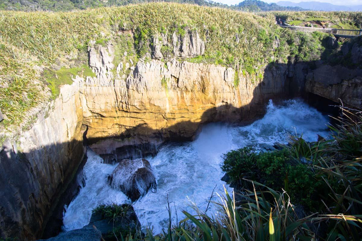 Punakaiki Pancake Rocks and Blowholes in Neuseeland