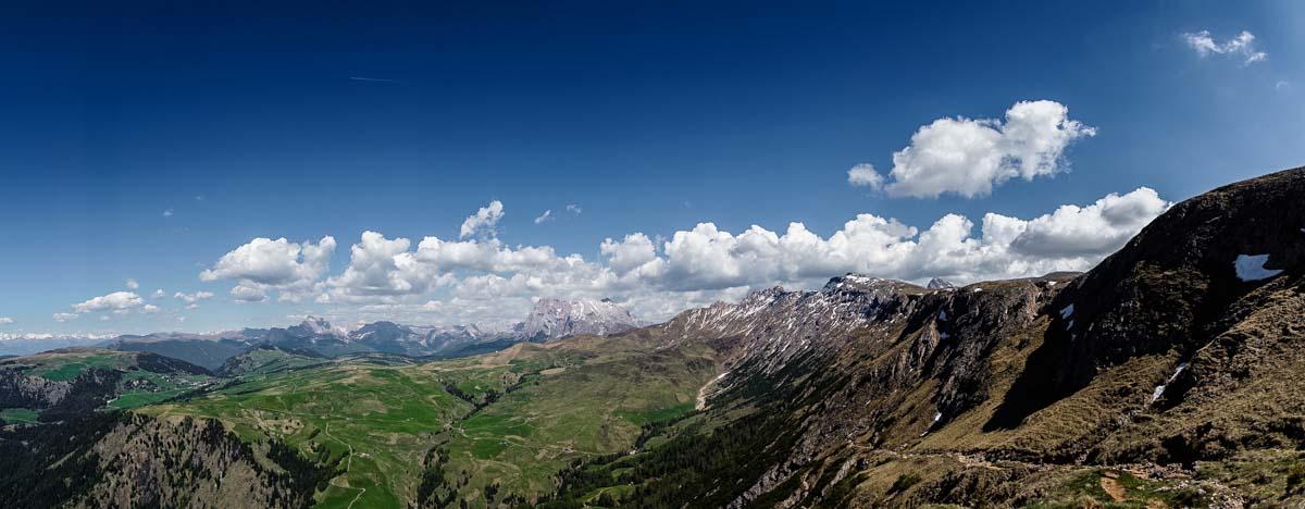 Panorama vom Schlern Richtung Seiser Alm