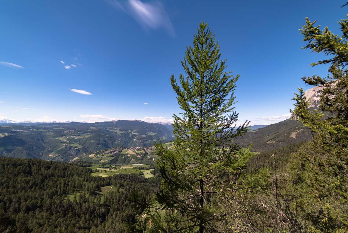 Blick auf Tschafonleger in den Dolomiten
