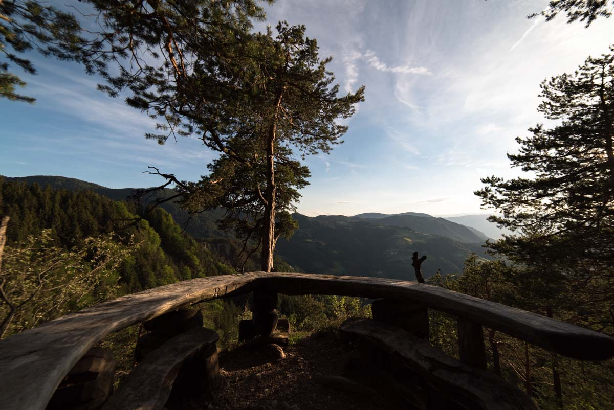 Picknickplatz am Tschafon in den Dolomiten