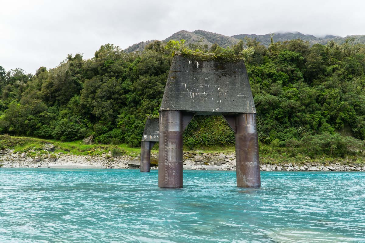 Der Whataroa River in Neuseeland