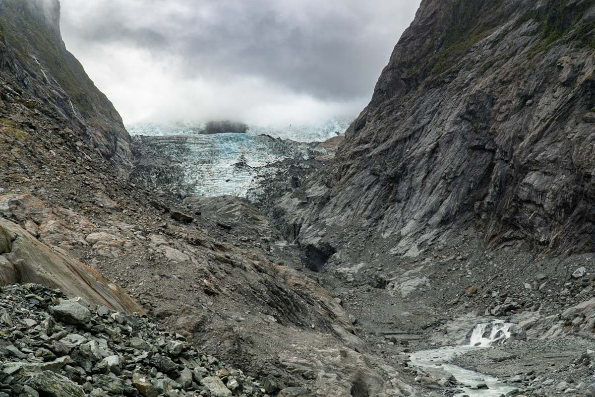 Der Franz-Josef-Gletscher in Neuseeland