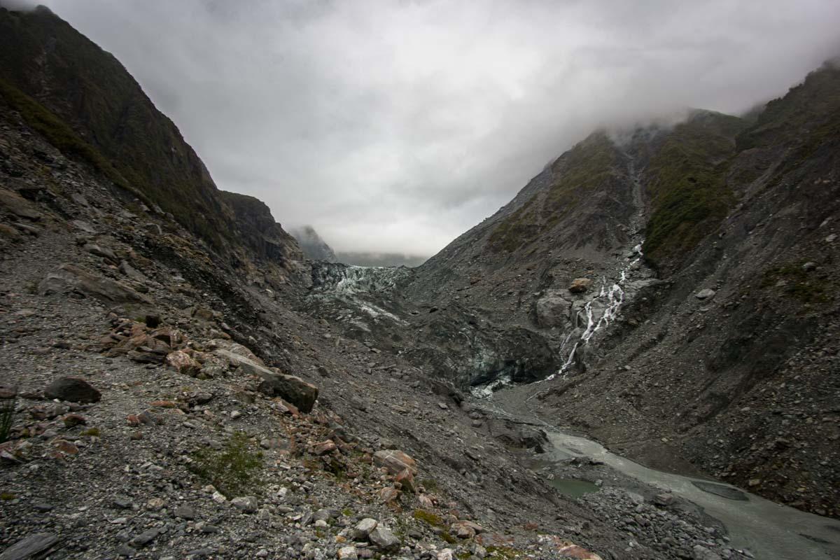 Der Fox-Gletscher in Neuseeland