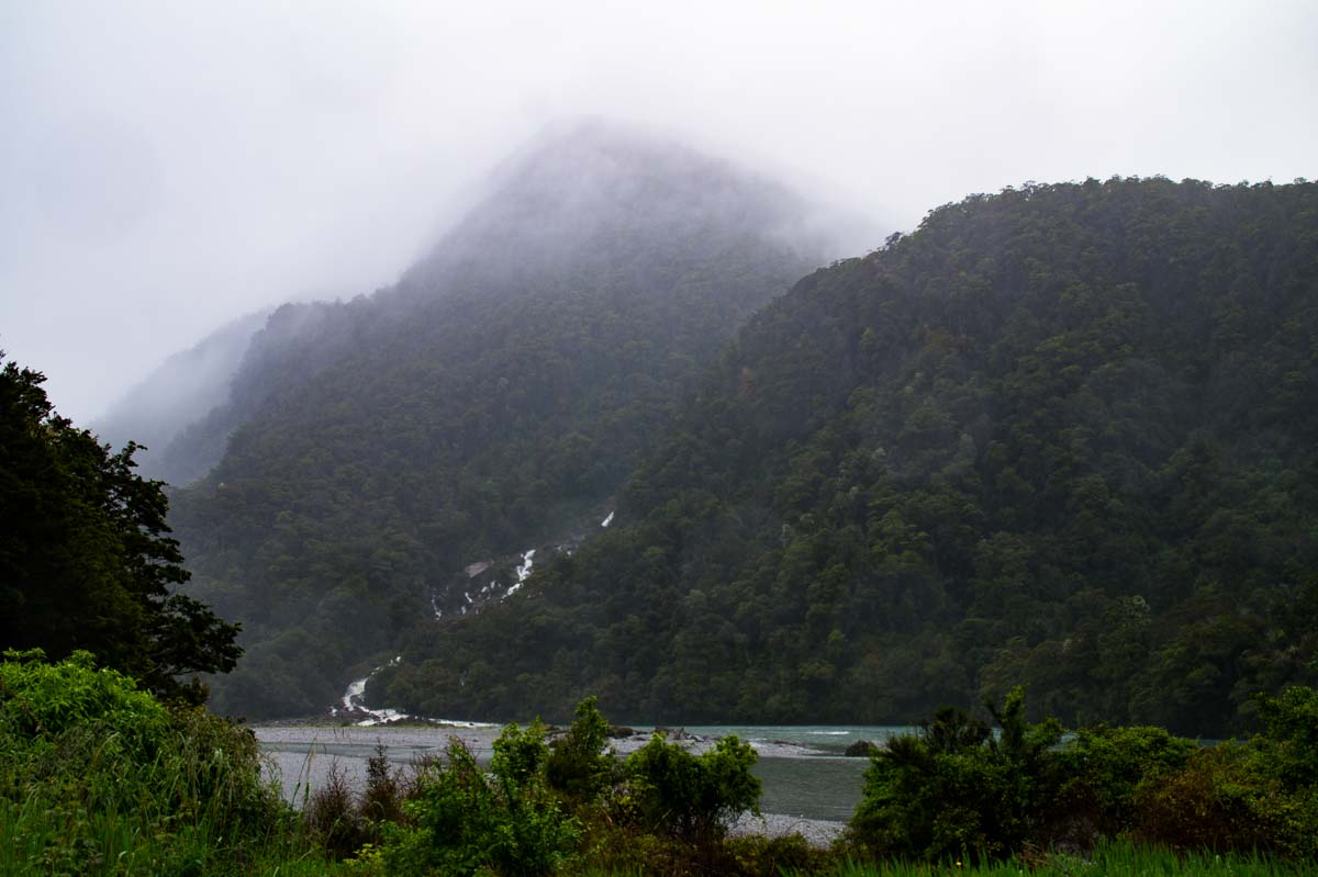 Hasst Pass Drive in Neuseeland