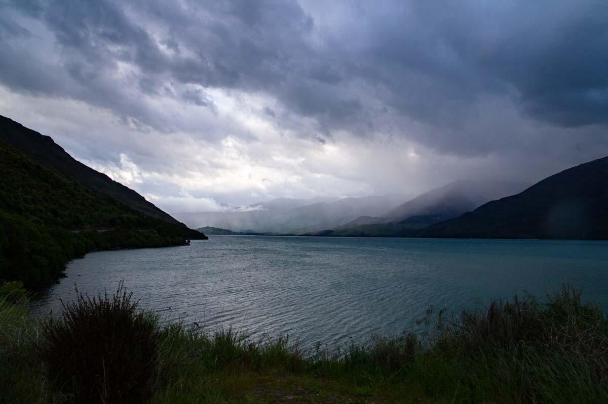 Lake Wanaka im Regen