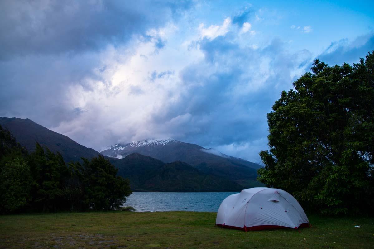 Boundary Creek Campsite am Lake Wanaka