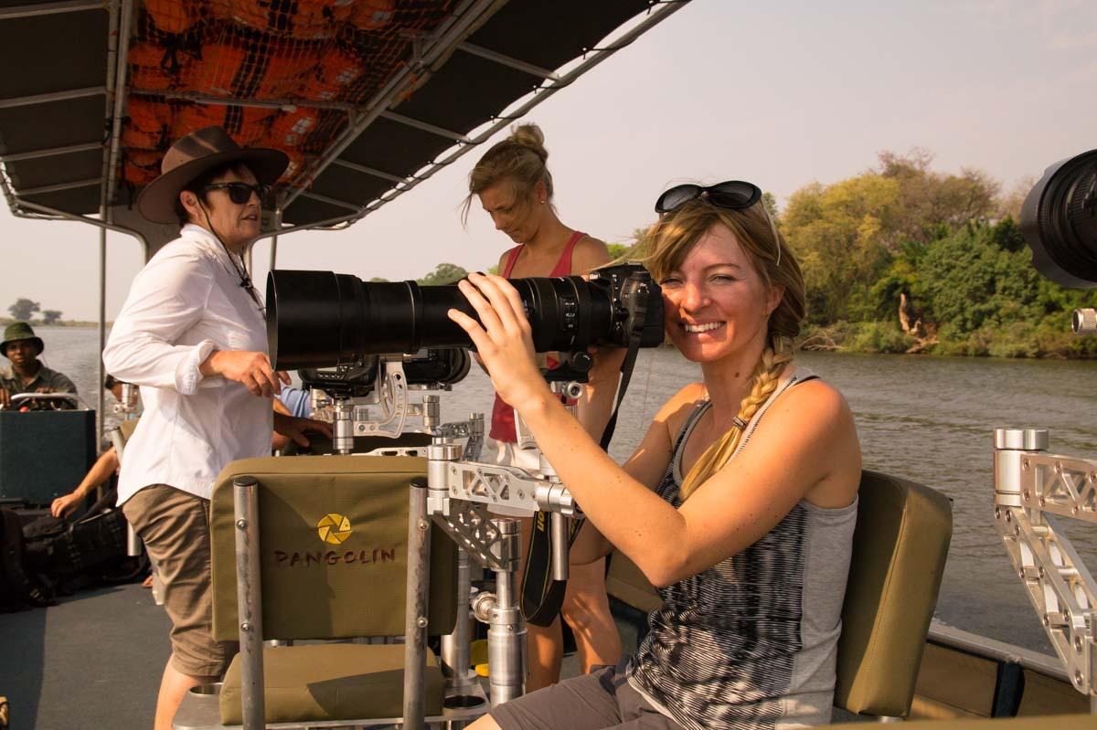 Boot von Pangolin Photo Safaris